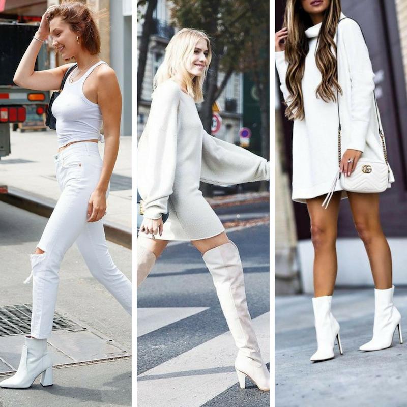 Vestido blanco para el invierno